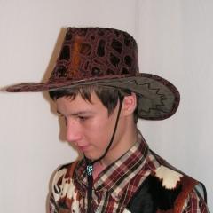 Western kalap barna-fekete