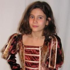 Reneszánsz lány jelmez